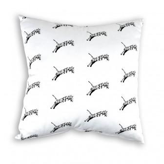 Çita Desenli Beyaz Kırlent
