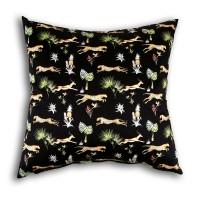 Çita Desenli Siyah Kırlent
