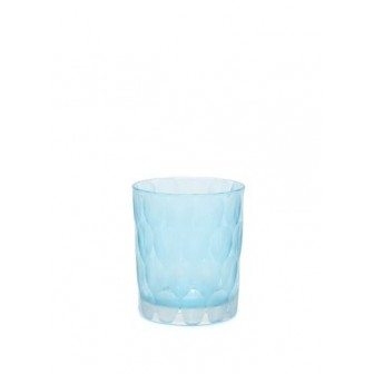 Blue Chry small  glass blue Vase