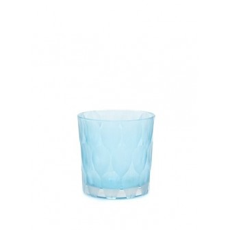 Blue Chry big  glass blue Vase