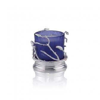 Branch small lilac glass candle