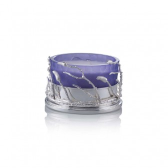 Branch big  lilac glass candle