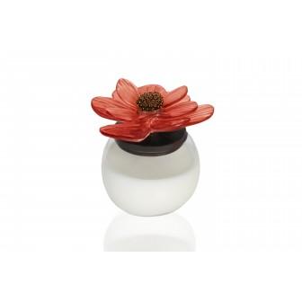 Chrysanthemum glass Candle