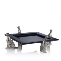 Cheetah Silver Serving platter