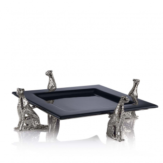 Cheetah Silver Serving platter