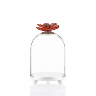 Chrysanthemum small marble bell jar