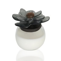 Chrysanthemum glass Candle