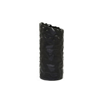 Cut small black glass Vase