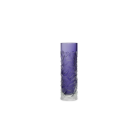 Cut small purple glass Vase