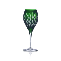 Green color White Wine Glass set of 4