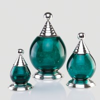 Emerald Blown Glass Globe