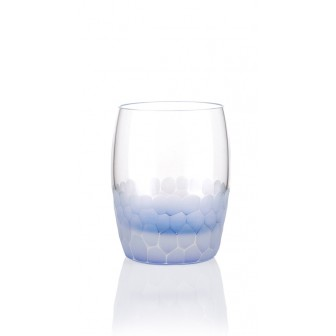 Honeycomb textured water glass set of 4