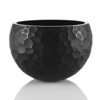 Honeycomb textured big Glass  Bowl