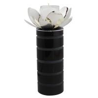 Magnolia glass Candle holder