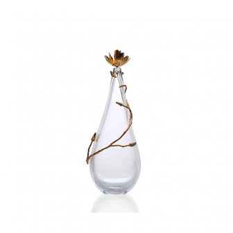 Magnolia small glass decorative Vase