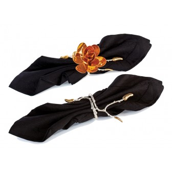 Magnolia napkin ring set of 2