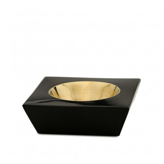 Black marble ashtray