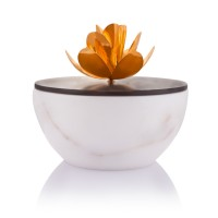 Marble Bowl with Magnolia figure