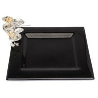 Orchid glass square Serving platter