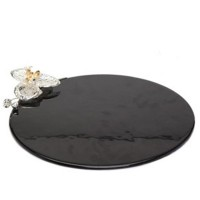 Orchid glass  Serving platter