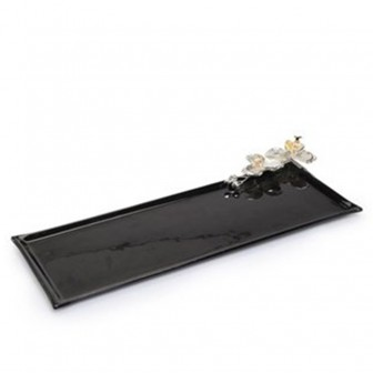 Orchid glass big  Serving platter