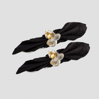 Orchid napkin ring set of 2