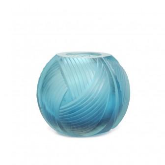 Dekorlu Büyük Mavi vazo