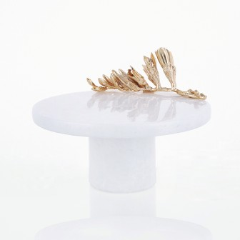 Thorn big marble footed platter