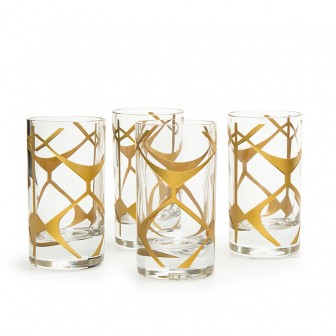Ethnic pattern shot glass set of 4