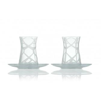 Ethnic pattern Tea glass set of 2