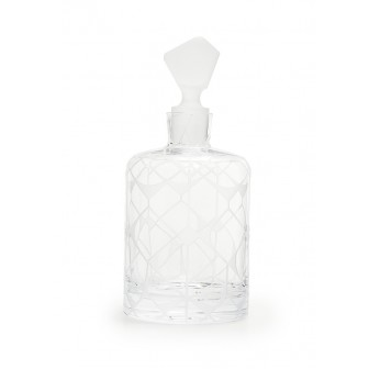 Touch glass whiskey carafe
