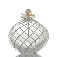 Touch silver lined big  glass Vase