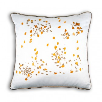 Hand painted dots decorative pillow