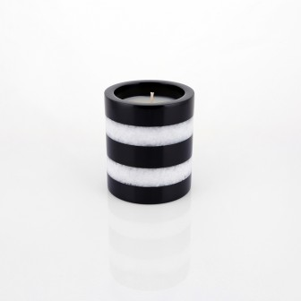 Zebra marble Candle