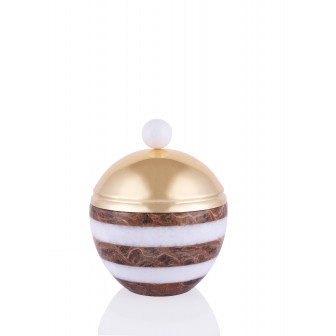 Zebra small Marble Dome